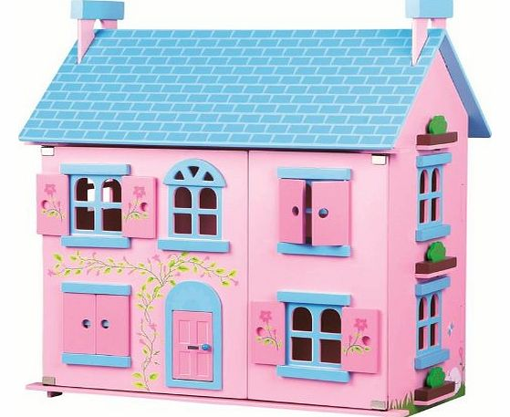 LELIN WOODEN SWEETIE PINK DOLL HOUSE PLAYHOUSE GIRLS CHILDREN PLAYHOME ...