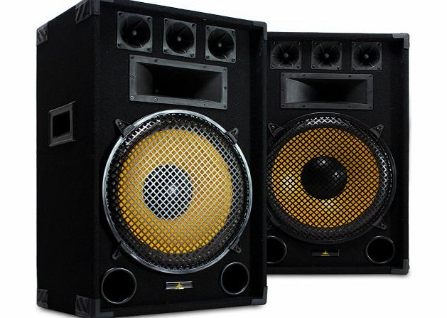 Lemon Audio 2x Lemon Audio 15`` Inch Passive DJ Speakers Party Disco Sound Package 1600W product image