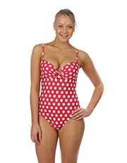 Polka Passion Padded Swimsuit - Raspberry