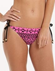 Lepel, 1295[^]268145 Summer Days Print Tie Side Pant - Pink and Black