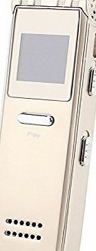 LESHP Digital Voice Recorder USB LCD Dictaphone MP3 Player 8GB Audio Voice Recorder 8GB 650Hr (Gold)