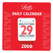 Letts 2006 Daily Tear Off Calendar product image