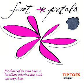 Ladies 1 Pair Levante Foot Petals Tip Toes In 2