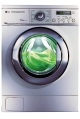 LG 1600 spin speed washing machine in silver