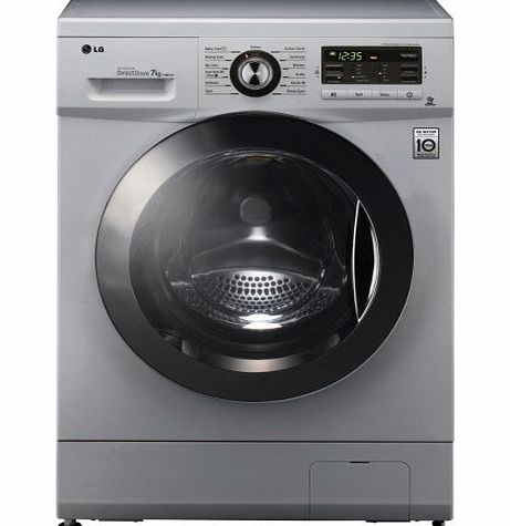 LG Electronics LG F1296TDA5 6 Motion Direct Drive 8kg 1200rpm Freestanding Washing Machine - Silver product image