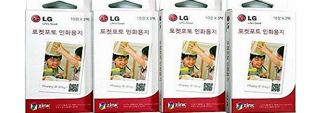 LG Electronics Zink Media 2x3`` Zero ink Photo Paper for LG Pocket Photo PD221, PD233, PD239 Printer / 90 Sheets product image