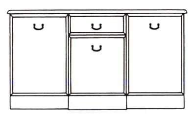 Lichfield 3 Door- 1 Drawer Sideboard