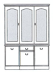 Lichfield Display Cabinet - 3 Door
