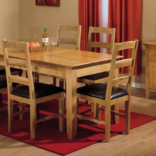 Dining room sets lichfield oak small dining set 6 for Small dining set with bench