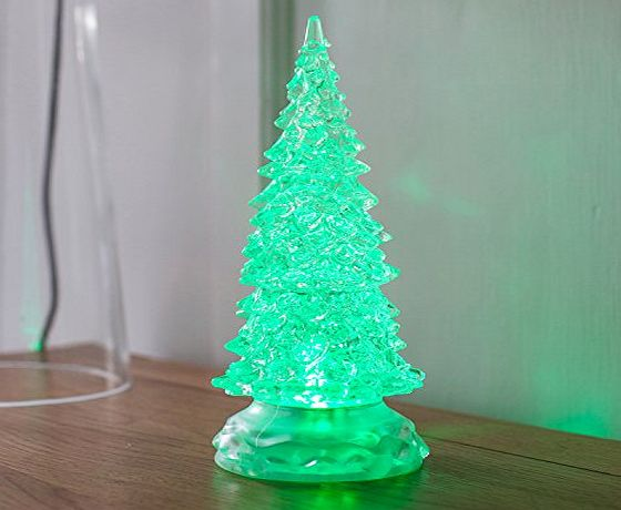 Lights4fun Colour Changing Swirling Glitter Water Battery LED Christmas Tree by Lights4fun