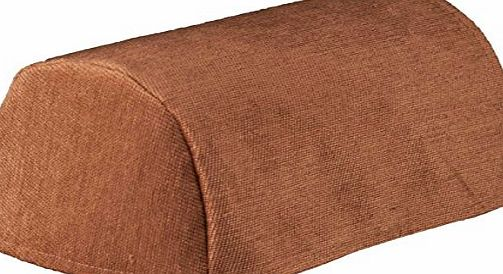 linen702 CHENILLE CHAIR ARM COVERS OR CHAIR BACKS, CHOICE OF 4 PLAIN COLOURS. CREAM, GOLD, BURGUNDY OR BROWN (Chair Arm Covers (pairs) Chocolate Brown (50842))
