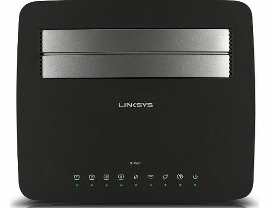 Linksys X3500 N750 Dual Band Wireless Router with ADSL2  Modem/USB