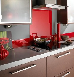 Red Kitchen Splashback (70cmx100cm)