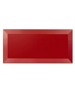 Red Metro Glass Wall Tile