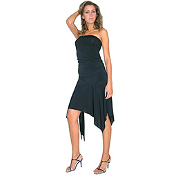 Boob Tube Sash Waist Dress