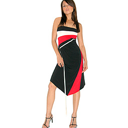 Colour Block Boob Tube Dress