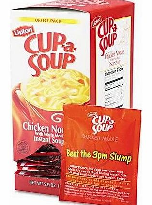 Lipton - Cup-a-Soup, Chicken Noodle, Single Serving, 22/Pack - Sold As 1 Box - Just add hot water.