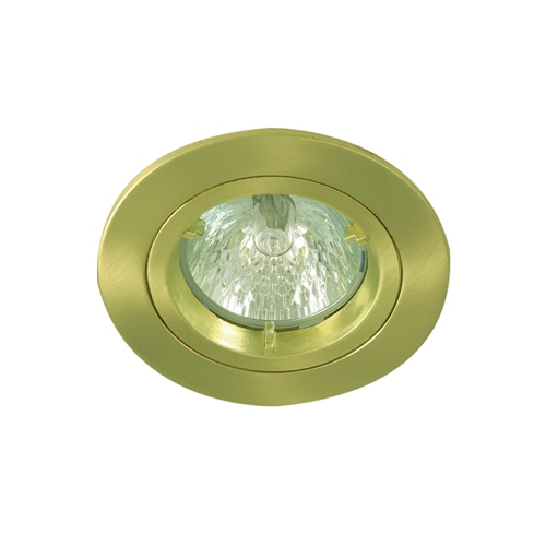 Flush look, high quality fixed low voltage halogen downlight