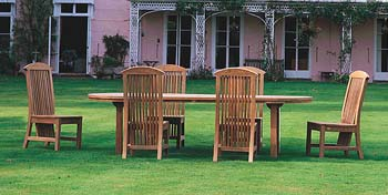 Please note: this dining set is supplied with 8 chairs and not 6 as pictured. Lister has been - CLICK FOR MORE INFORMATION