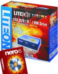 Liteon 16X DVD+/-R and RW Drive Plus FREE Nero 6 product image