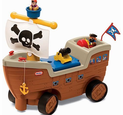 Take to the high seas with the motley crew in the Little Tikes 2 in 1 Pirate Ship.Sit on this ship-shaped ride-on toy and set out on a voyage round your garden. Steer with the mast and press the button to hear pirate ship sounds.When youve finished r - CLICK FOR MORE INFORMATION