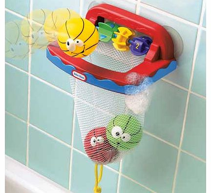 This adorable Little Tikes Bathketball Set transforms bath time to game time. Children can shoot. squirt and score. The suction cups allow you to stick the toy to the wall or bath side in seconds. Size H22.9. W22.6. D8.89cm. For ages 6 months and ove - CLICK FOR MORE INFORMATION