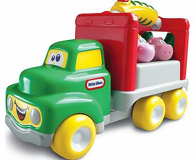 Head on down to the farm with the Little Tikes Handle Haulers Deluxe Farm Vehicle.Help load up this farm truck vehicle by lowering the ramp and loading the cow and pig into the truck. Once theyre all on-board, you can give them a ride on the trucks f - CLICK FOR MORE INFORMATION