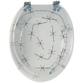 Barbed Wire Toilet Seat