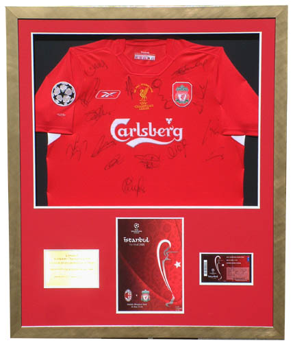 2005 European Cup signed and framed presentation