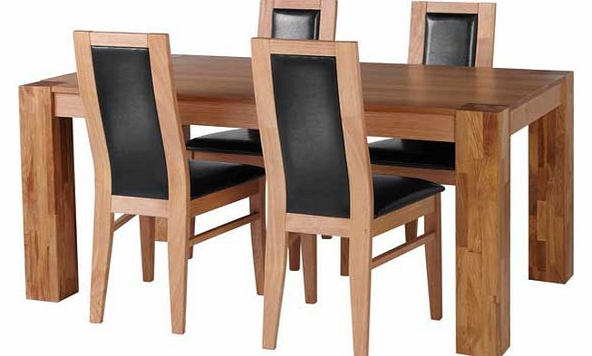 warwick dining tables : living warwick oak dining table and 4 black chairs from www.comparestoreprices.co.uk size 653 x 393 jpeg 36kB