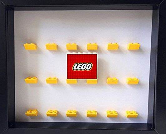 Ljhomefurnishings Custom Handmade lego minifigure display case frame (Black)
