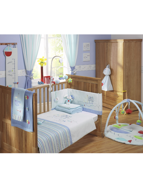 `laydon`3 Piece Furniture Set. Includes Cot Bed, Changer / Dresser Unit, Shelf