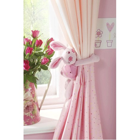 rosie posy pink tab top curtains rosie posy toy tie back is available
