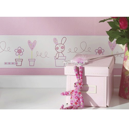 Baby Girl Wallpaper Borders. Posy - Wallpaper Border