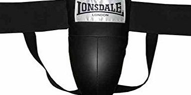 Lonsdale Groin Protect Boxing Equipment Elastic Athletic Supporter Guard Black/Grey S