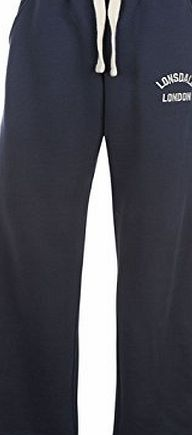 Lonsdale Mens Gym Jogging Pants Trousers Tracksuit Bottoms Sports Casual Comfort Navy XL