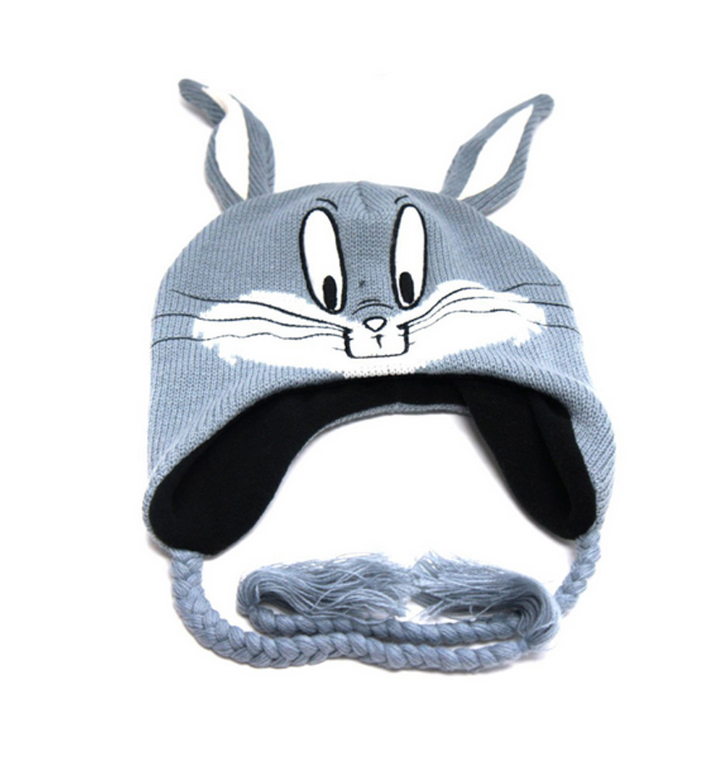 Bugs Bunny Knitted Laplander Hat