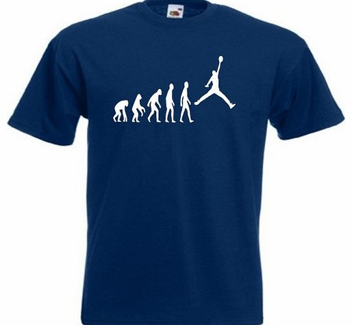 Loopyparrot Evolution of man basketball T-shirt 86 - Navy - X-Large product image