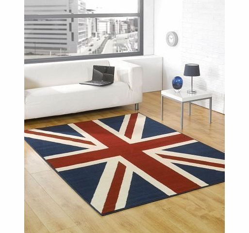 Lord of Rugs Buckingham Great Britain Flag Union Jack Design Blue Red White Rug 120 x 160 cm (4 x 53``) Carpet product image