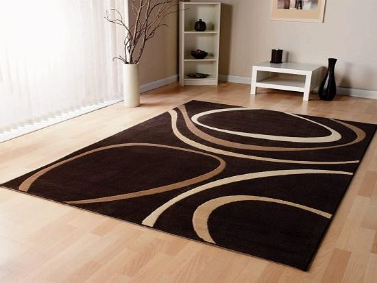 Lord of Rugs Modern Rug in Brown 80 x 150 cm (27`` x 5) Carpet product image