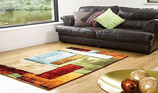Lord of Rugs Very Large Contemporary Modern Art Design Multi Colour Rug in 160 x 230 cm (53 x 77) Carpet product image