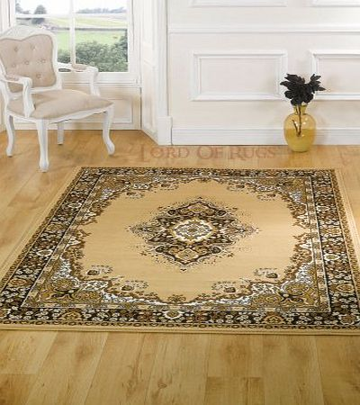 Lord of Rugs Very Large Traditional Beige Rug Carpet 280 x 365 cm (92`` x 12) product image