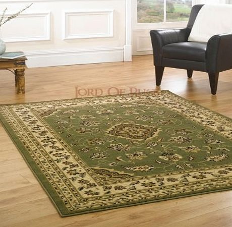 Lord of Rugs XLarge New Quality Traditional Rugs Green rug carpet 200 x 290 cm (67`` x 96``) Sherborne product image