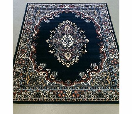 Lord of Rugs XXLarge Traditional Classic Design Navy Rug in 180 x 250 cm (511 x 82) Carpet product image