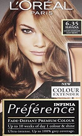LOreal Paris Preference Infinia 6.35 Havana Golden Mahogany Light Brown