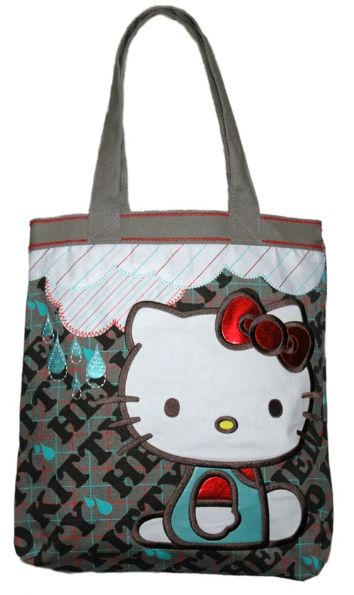 Grey Hello Kitty Rain Cloud Tote Bag from Loungefly