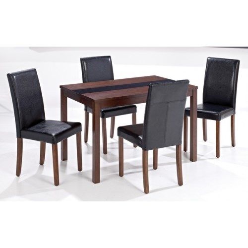 black dining room sets reviews : lpd limited lpd ashleigh medium walnut dining set with black from www.comparestoreprices.co.uk size 500 x 500 jpeg 30kB