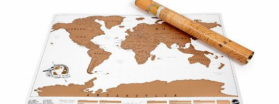 Luckies of London Luckies Scratch Map Personalised World Map product image