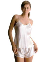 ... V-neck camisole set with French knickers