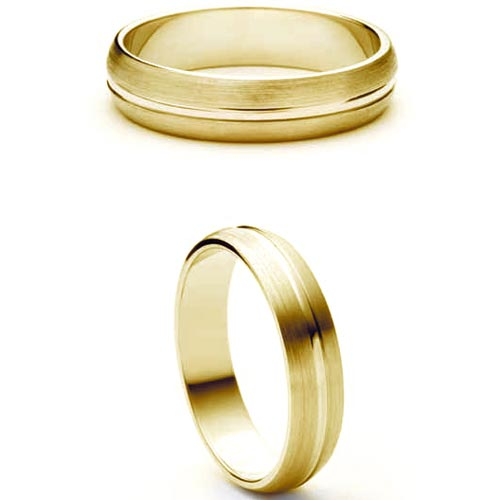 4mm wedding ring, wedding band, Yellow Gold Wedding Ring, gold, wedding ring